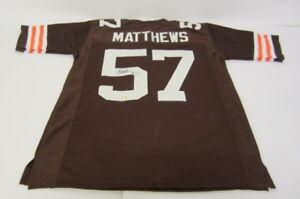 buy popular 645c6 da91e Details about Clay Matthews Jr Cleveland Browns Hand Signed Jersey /4x Pro  Bowl Linebacker COA