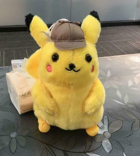 """Nouveau 8/"""" Japon Pokemon Center Film inspecteur Pikachu douce peluche enfants cadeau S150"""