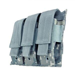 VISM-Triple-Pistol-Magazine-Pouch-MOLLE-Tactical-Duty-Gear-Hunting-ACU-DIGITAL