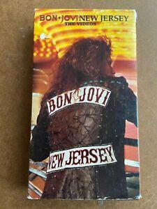 Bon-Jovi-New-Jersey-1989-Rare-VHS-Hair-Metal-FREE-SHIPPING