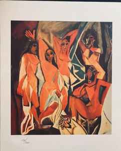 Vintage Numbered Ladies Of Avignon Gallery Cubist Picasso Giclee W Seal Ch3 Ebay