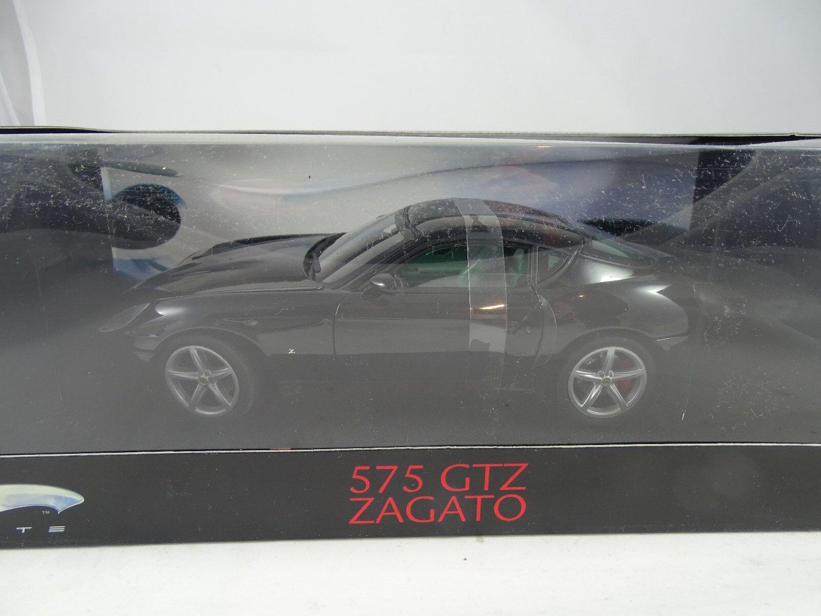 1 18 Matell Elite   L2983 Ferrari 575 Gtz Zagato Negro Rareza§