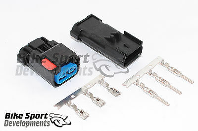 Ducati 3 way battery power pack connector set for GP07 to GP12 bikes