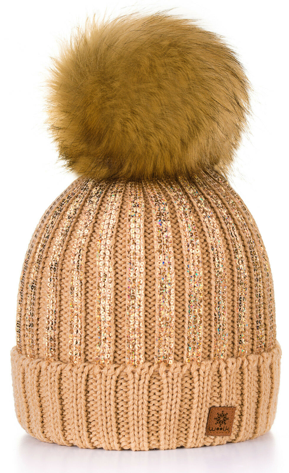 2ad58a7c2c0 4sold Womens Ladies Winter Hat Wool Knitted Beanie Large Pom Pom Cap ...