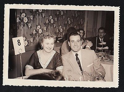 Vintage Antique Photograph Man & Woman At Table At Wedding - Crazy Wallpaper