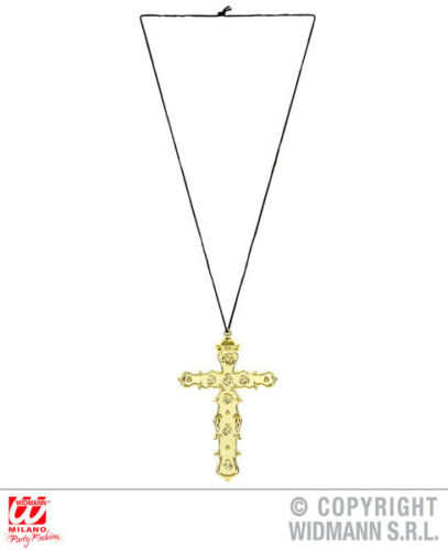 Collana CROCE PAPA religioso accessorio costume Jewellery