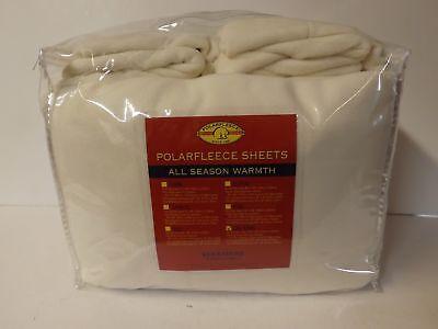 Berkshire Malden Mills Polarfleece Sheet Set W//4 PC-Cream-Full-H212707