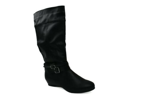 New Ladies Lightweight Pull On Boots with Tri-Buckle Design in UK Sizes 3-8