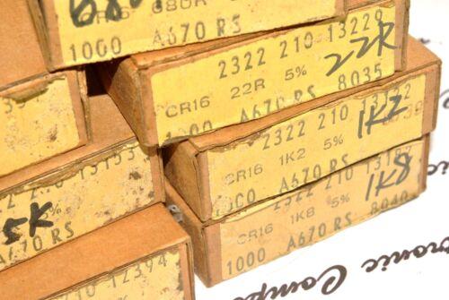 PHILIPS CR16 51R 51ohm 100pcs NOS 2322 210 13519 1//8W 5/% Resistor
