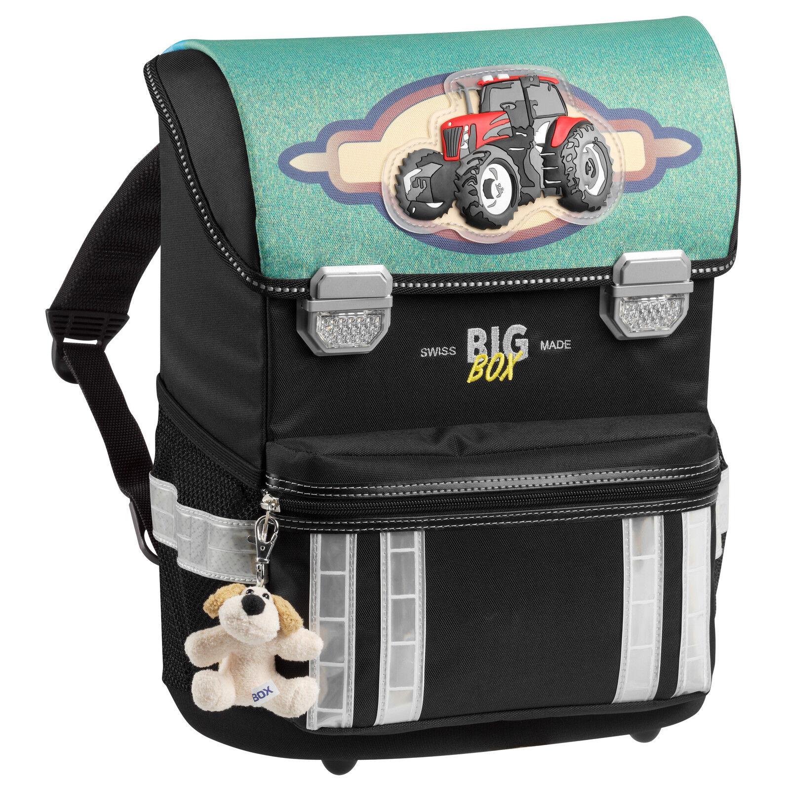 BigBox Leggero Traktor Schule Tornister Schulthek 3-D-Applikation Trekker Ranzen | Haltbarkeit  | Economy  | Billig ideal