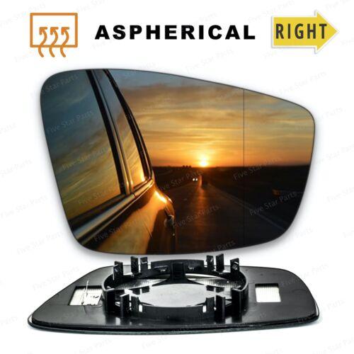 VW Up droit conducteur Wing Mirror Glass 2011-2020 Portes Côté Grand Angle Chauffé