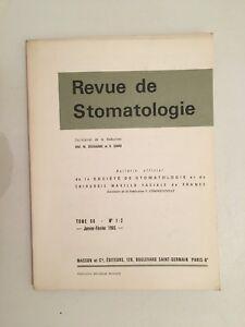 Revista de Estomatología Tomo 66 N º 1-2 Masson Y Cie Enero-Febrero 1965