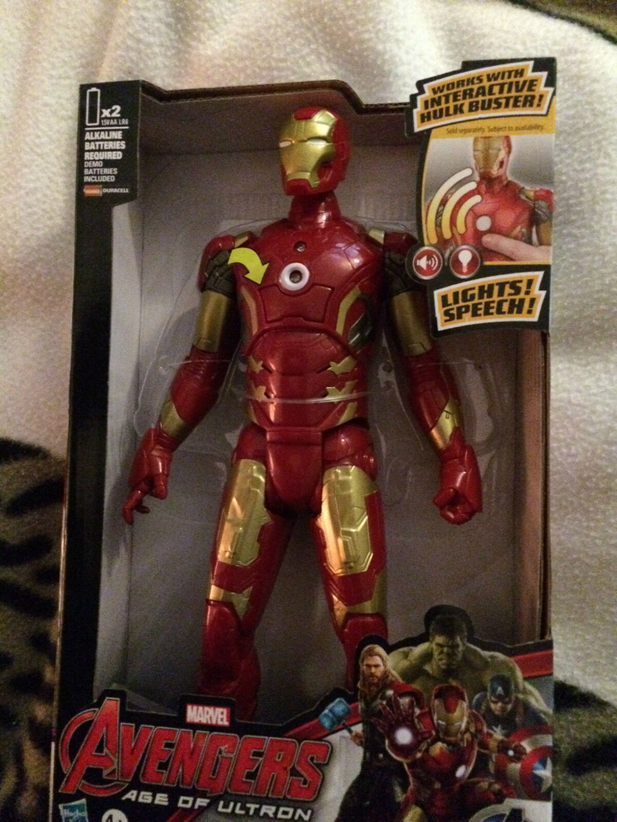 Marvel Avengers Age Of Ultron  Iron man    figure with sounds 2803ac