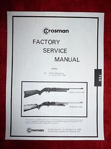 Crosman pumpmaster 760 parts list