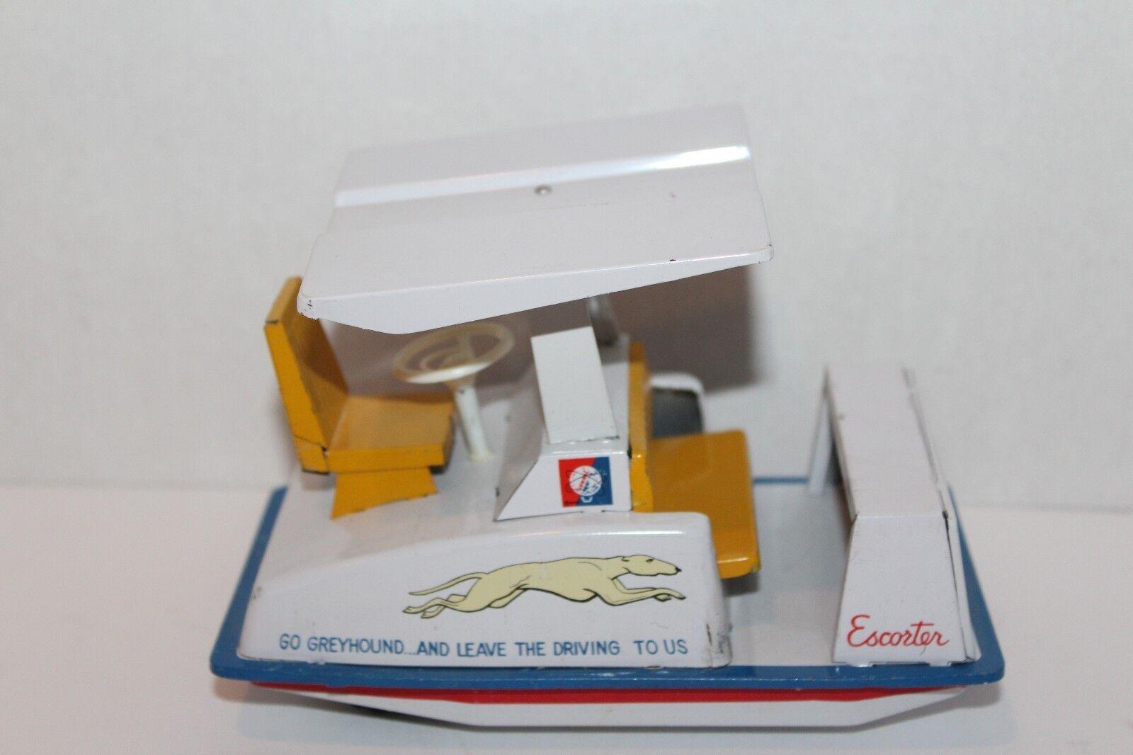 Rare 1964 New York World's Fair Scatola di Latta Friction grigiohound Escorter