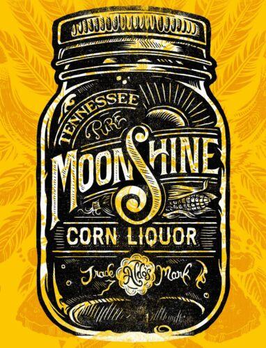 "TIN SIGN /""Tennesee Moonshine/"" Liquor Bar Mancave Decor Vintage Alcohol Gift"