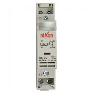 12Volt-20A-2Pole-2NC-Din-Rail-Contactor