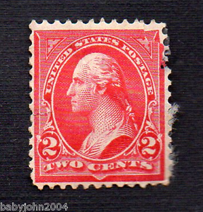 Image Is Loading United States George Washington 2 Cents Red Used