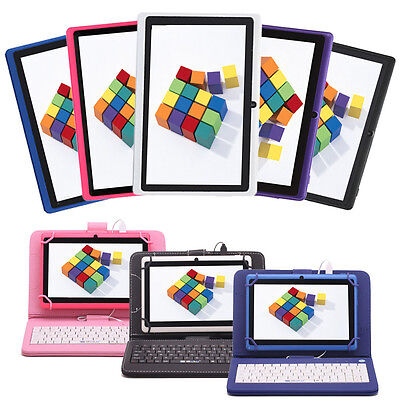 """IRULU 8GB 7"""" Tablet PC 1.3GHz Android 6.0 Dual Cameras Wifi 5 Colors w/ Keyboard"""
