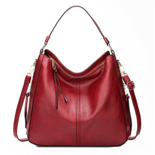 Ladies Casual Leather Handbag Large Capacity Female Shoulder Crossbody Tote Bags