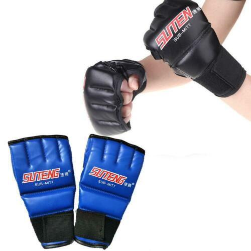 Cool MMA Muay Thai Training Punching Bag Half Mitts Sparring Boxing Gloves