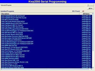 Kwp software