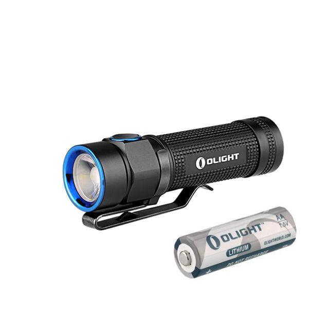 Olight S1A Baton Cree XM-L2 LED 600lms Compact EDC Flashlight Torch + AA Battery