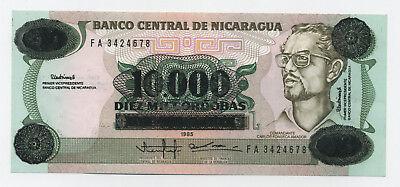 Nicaragua 10000 Cordobas 1989  Pick 158 UNC Uncirculated Banknote