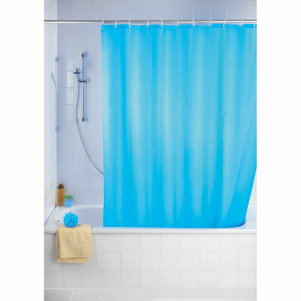 WENKO Uni Light Blau Duschvorhang Badewanne Anti-Schimmel 180 x 200 cm NEU OVP