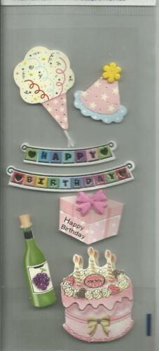 Habico 3D Adhesivo Adornos tarjetas scrapbooking /& Craft Cumpleaños Celebración