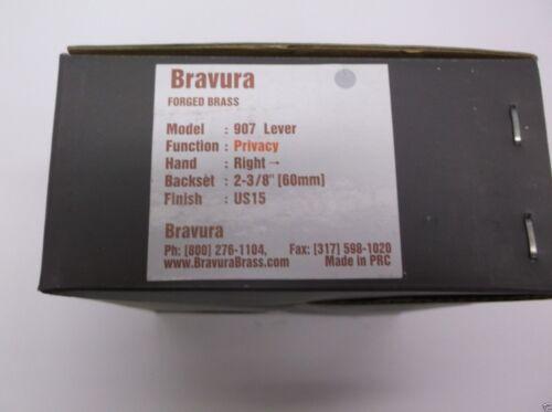 Bravura 907 Privacy Lever Right Satin Nickel  H39cj H41 CJ