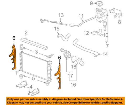 Pontiac GM OEM 05-10 G6 3.5L-V6 Radiator-Side Baffle Right 22629706