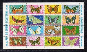 dn-883 Afrika Äquatorial-guinea Fauna Schmetterlinge Jahr 1974 Äquatorialguinea