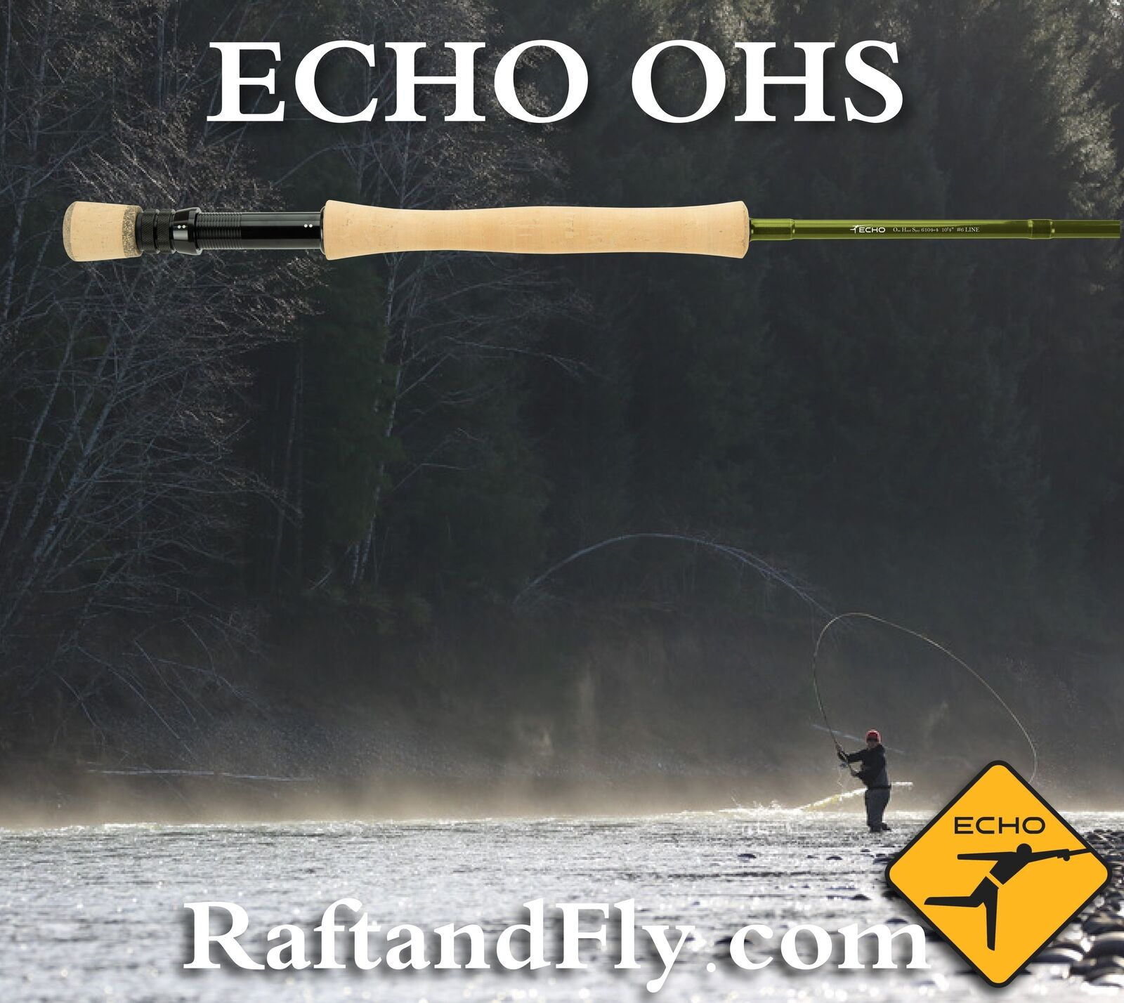 Echo que OHS 8wt 10' 4  caña Spey para mosca una mano-Garantía De Por Vida-Envío Gratis
