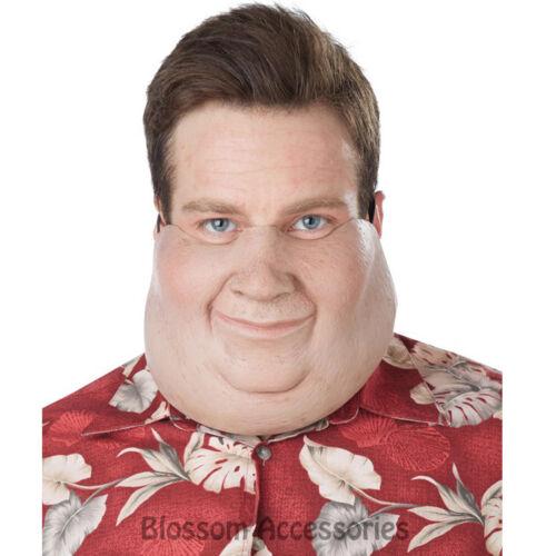 A648 Super Size Funny Comedy Vinyl Big Fat Man Face Mask Costume Accessory