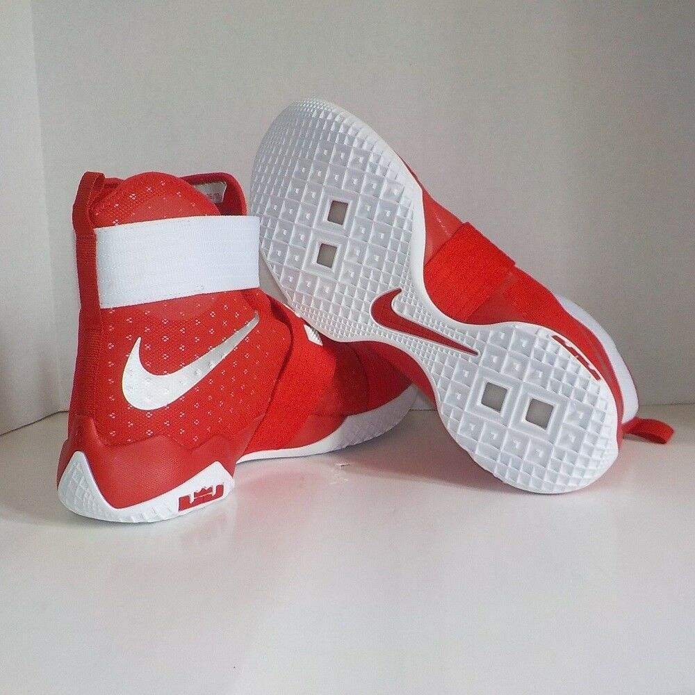 7348a5b4983 Nike Lebron James Soldier X TB Promo Basketball Shoes Red 856489 663 Men 16  for sale online