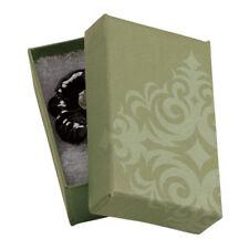 Jewelry Boxes 50 Sage Green Damask 2 12 X 1 12 X 78 Print Cotton Filled