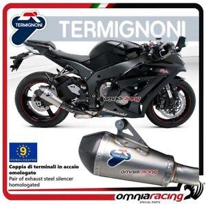 Termignoni-RELEVANCE-Tubo-de-Escape-acero-aprobado-Kawasaki-ZX10R-2010-gt-2012