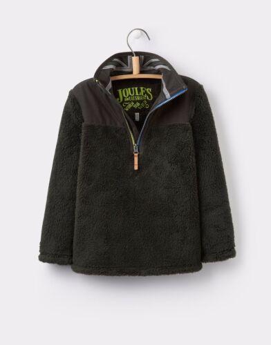 *BNWT* Joules Boys Soft Woozle Zip Neck Fleece Sweatshirt Coal Grey Warm