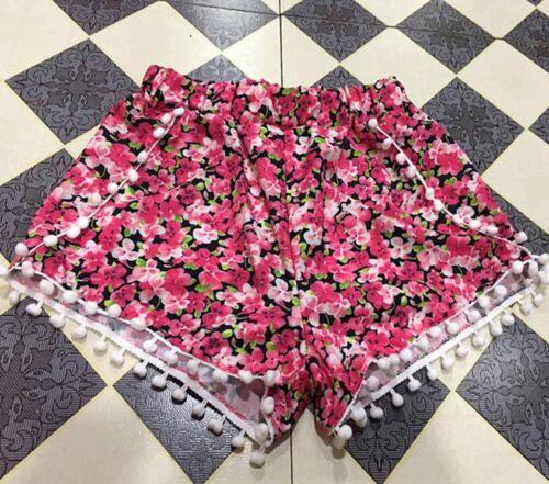 Fashion Print Summer Women High Waist Tassel Casual Floral Beach Hot Pant Shorts