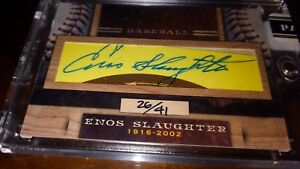 2011-Donruss-Limited-Cuts-Enos-Slaughter-Yankees-Auto-HOF