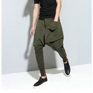 1ec934ef4eb7 Men's hip hop dance Baggy jogger pants elastic waist draped street ...