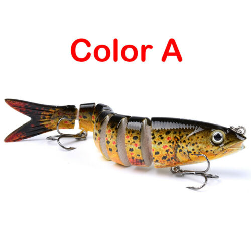 "6PCS Fishing Lures Bass Trout 5.2/"" Multi Jointed Swimbaits Sinking Bionic Lures"