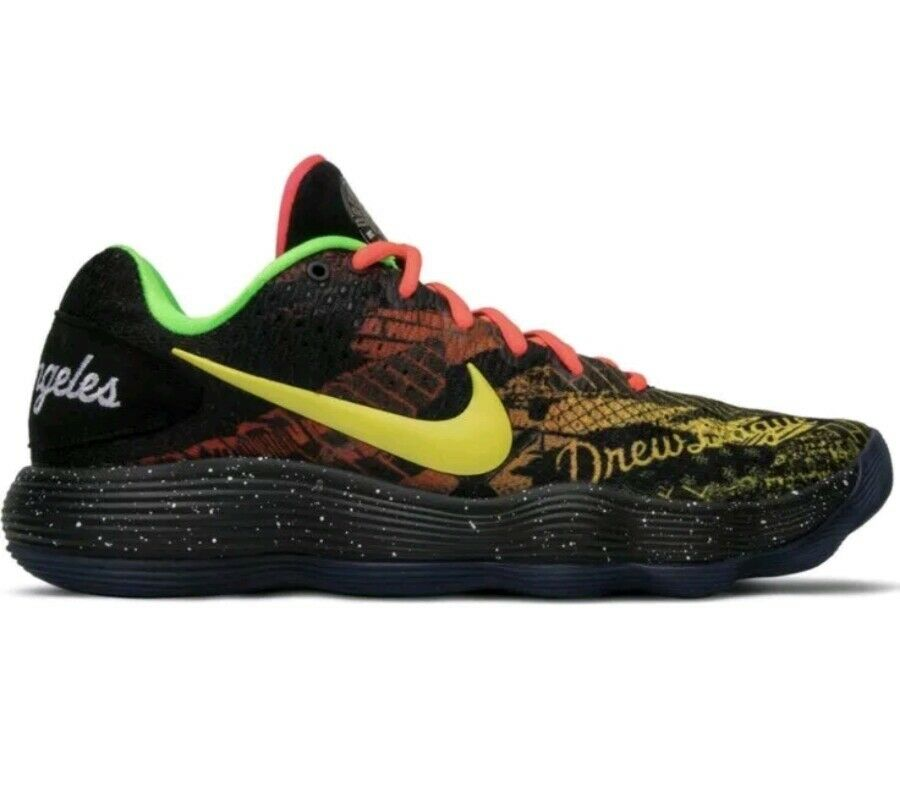 Nike Hyperdunk 2017 Low Los Angeles Drew League Mens Size 17 [AH9053-001] A3