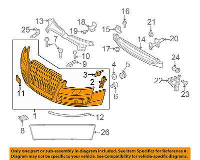 AUDI OEM 05-08 A6 Quattro-Bumper Cover 4F0807105EGRU