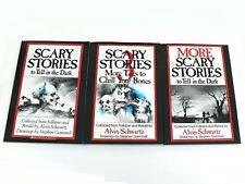 Scary Stories to Tell in the Dark 3 Book Set Childrens Alvin Schwartz Movie NEW