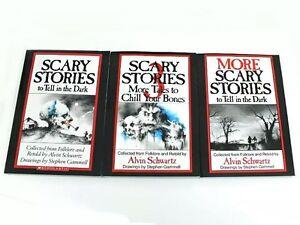 Scary-Stories-to-Tell-in-the-Dark-3-Book-Set-Childrens-Alvin-Schwartz-Gift-NEW