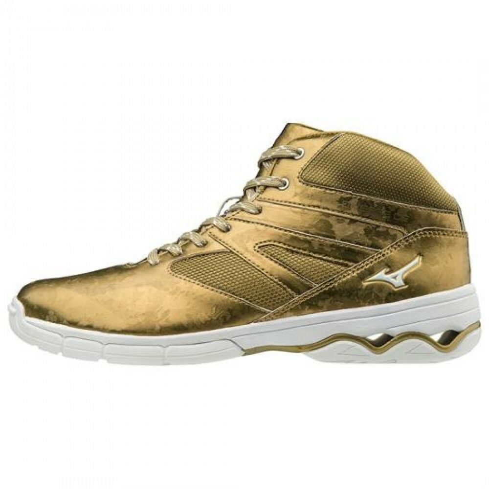 Mizuno Dance Fitness Schuhes WAVE DIVERSE DE K1GF1874 gold Free shipping