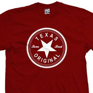 Texas-Original-Inverse-T-Shirt-Born-and-Bred-in-Made-Tee-All-Sizes-amp-Colors