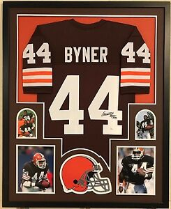 adc6d78ae Image is loading FRAMED-EARNEST-BYNER-AUTOGRAPHED-SIGNED-CLEVELAND-BROWNS- JERSEY-